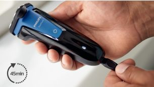 45 minutes of cordless shaving after an ten-hour charge