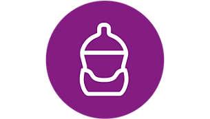Past op alle plastic Philips Avent Natural-babyflessen van 125 ml