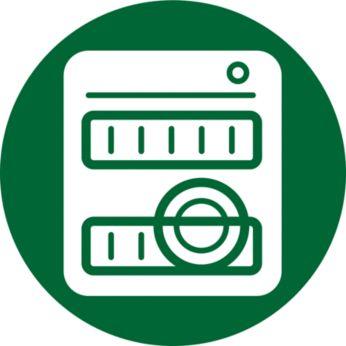 Alla löstagbara delar kan diskas i diskmaskin