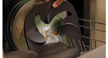 Todas as peças amovíveis são laváveis na máquina de lavar a loiça