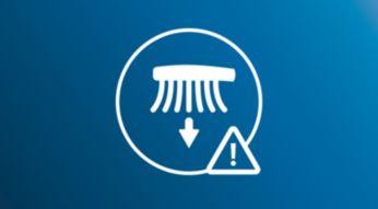 Opozori vas, če pri ščetkanju pritiskate premočno