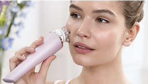 Relaxează muşchii faciali şi conferă senzaţia de piele ridicată