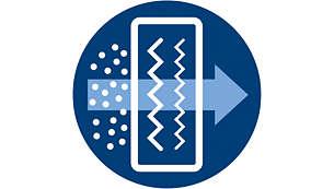 Le filtre ultra-hygiénique piège plus de 99% des poussières fines