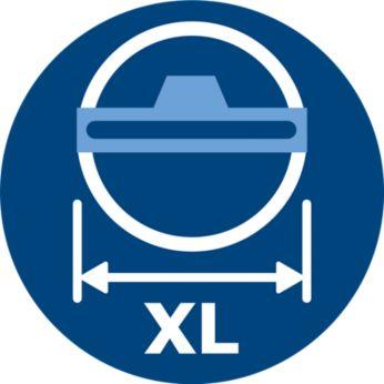 Hubice TriActive XL čistí jedním tahem dvojnásobnou plochu.