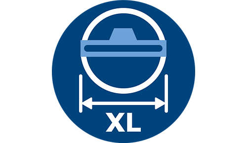 Die TriActive XL-Düse reinigt in einem Zug die doppelte Fläche