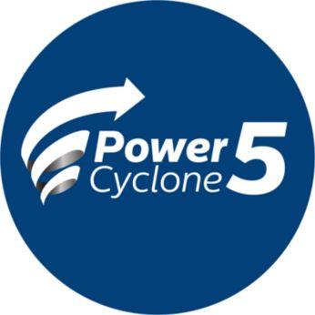 PowerCyclone 5-technologie scheidt lucht en stof