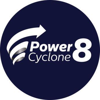 Технологията PowerCyclone 8 отделя праха от въздуха