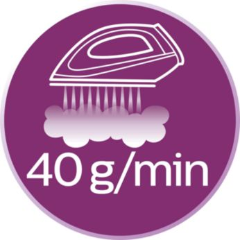 Güçlü ve tutarlı performans için 40 g/dk'ya kadar buhar çıkışı