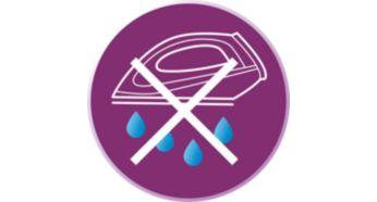 Le système anti-gouttes évite les tache pendant le repassage