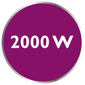 2000 W για γρήγορη προθέρμανση