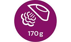 Паровой удар до 170 г для разглаживания жестких складок