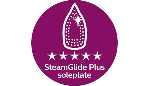 SteamGlide Plus-strykesåle sørger for at strykejernet glir optimalt