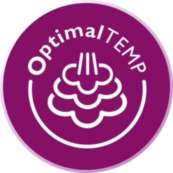 OptimalTEMP technology: Guaranteed no burns, no settings