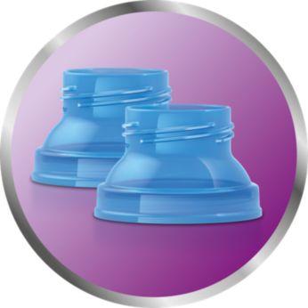 Einfaches Abpumpen in den Aufbewahrungsbehälter