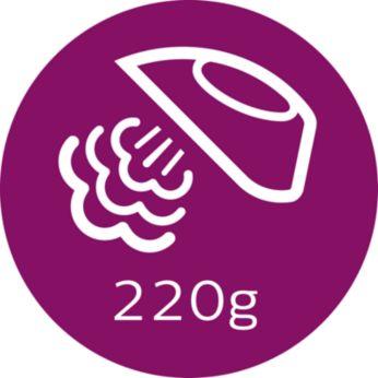Паровой удар до 220г для разглаживания жестких складок