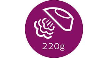 Dodatna količina pare do 220 g za uklanjanje tvrdokornih nabora