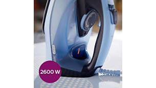 2600 W ile hızlı ısınma ve güçlü performans