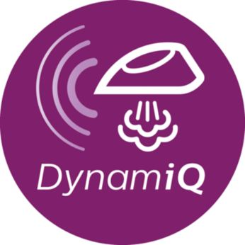 DynamiQ 動能感應模式,以智能方式輸出蒸氣,帶來最佳熨燙效果