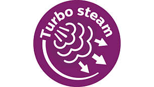 Turbo steam pump pushes up to 50% more steam through fabric*
