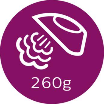Паровой удар до 260г для разглаживания жестких складок