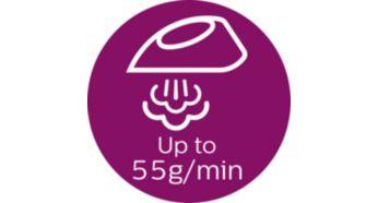 Подача пара до 55г/мин для быстрого разглаживания складок