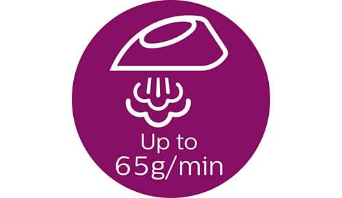 Stoomproductie tot 65 g/min voor de snelste verwijdering van kreuken