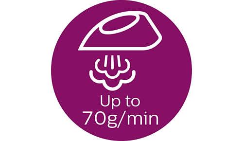 Vapor de hasta 70g/min para eliminar las arrugas más rápido