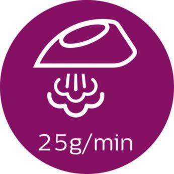 Παροχή ατμού έως 25 γρ./λεπτό για ισχυρή, σταθερή απόδοση