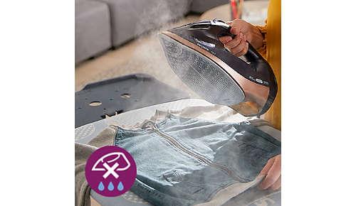 Sistemul antipicurare păstrează hainele nepătate în timpul călcării