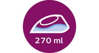Grand réservoir d'eau de 270ml pour repasser plus de vêtements en une séance