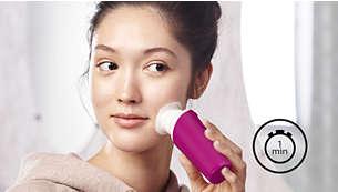 Nettoyer votre visage n'a jamais été aussi simple! De meilleurs résultats en 1minute seulement