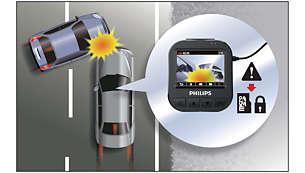 重力传感器可检测碰撞,触发紧急录制