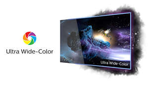 Ultra Wide-Color wider range of colours for a vivid picture