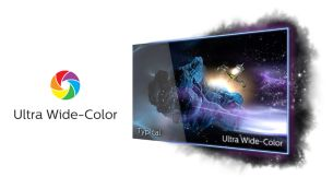 Ultra Wide-Color wider range of colors for a vivid picture