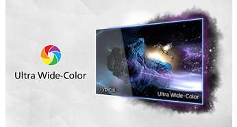 Ultra Wide-Color ger ett större urval färger för en mer levande bild