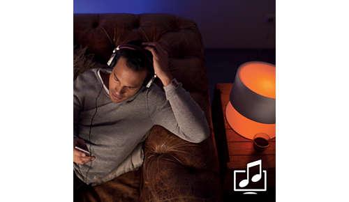 Synkroniser lyset med musik og film