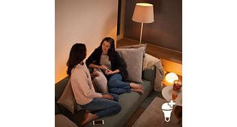 Steuern Sie bis zu 10 Philips Hue Lampen gleichzeitig