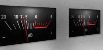 Įmontuotas VU (garsumo vienetų) matuoklis rodo įeinančio signalo lygį