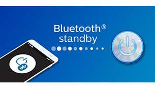 Für eine einfache, erneute Verbindung ist Bluetooth immer im Standby-Modus