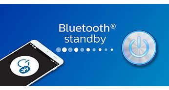 Stand-bymodus van Bluetooth staat altijd aan om eenvoudig opnieuw te verbinden