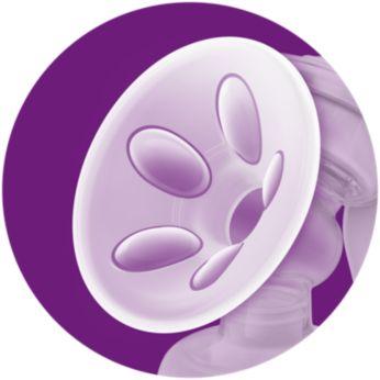 Weiches Massagekissen zur sanften Stimulation des Milchflusses