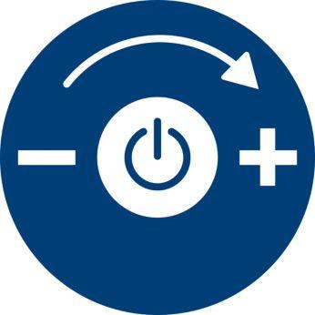 Nastaviteľný sací výkon pre rôzne typy čistenia