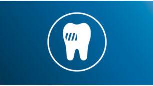 Élimine jusqu'à 3fois plus de plaque dentaire qu'une brosse à dents manuelle