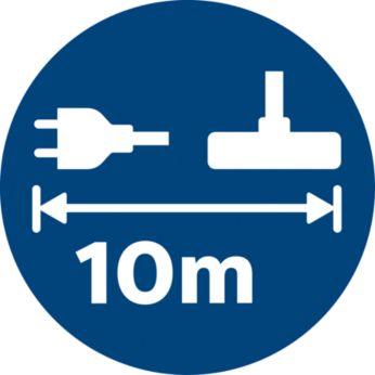 10-метровая досягаемость позволяет продолжить работу без изменения сокетов