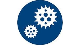 Removes bacteria & viruses (eg. H1N1, EV71 (HFMD), etc.)