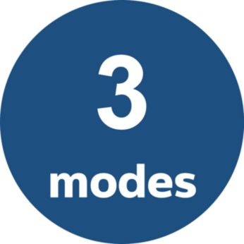3 auto modes: Pollution, Allergen, and Bacteria & Virus