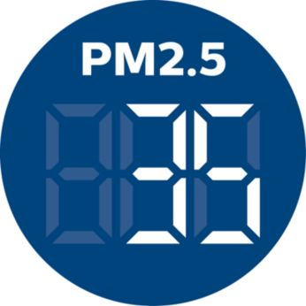 Real-time numerical indoor PM2.5 feedback