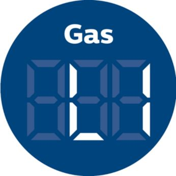 Real-time harmful gas indicator in four levels