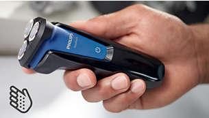 Ergonomically designed grip for easy handling
