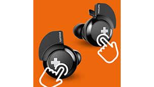 Управлява обажданията, музиката и силата на звука